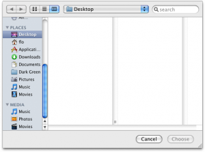 The Media category in the OS X file chooser