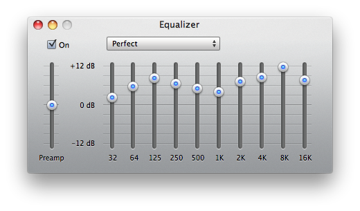 Perfect iTunes Equalizer Preset