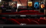 XBMC's home screen